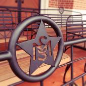 【薩摩藩英国留学生記念館】薩摩藩英国留学生記念館の屋外にあるベンチ。海を見ながらゆっくり休憩できる。