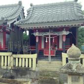 【湯権現】指宿市西方二月田の湯権現。温泉のさまざまな効きめを神仏の力だとし、祀っていました。
