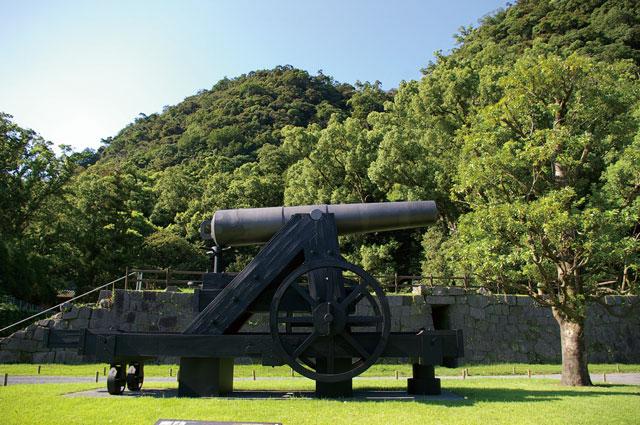 集成館事業で造られた大砲(復元)