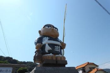 日当山温泉に遊ぶ西郷隆盛先生の像(霧島市)
