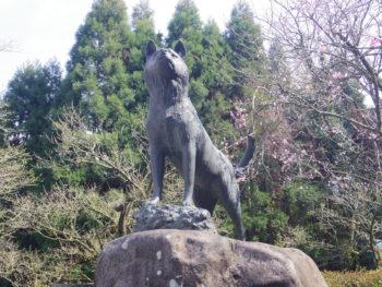 西郷隆盛愛犬ツンの銅像(薩摩川内市・東郷)