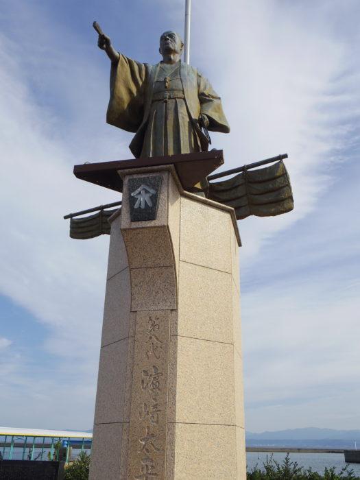 浜崎太平次銅像(指宿市)