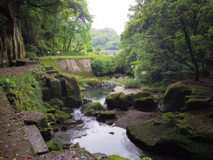 関吉の疎水溝(鹿児島市)